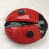Red Lady Bird  or Ladybug Brooch by Lea Stein of Paris  (SOLD)